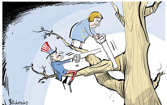 L'UE pourrait limiter l'accès des USA à ses crédits en réponse aux sanctions antirusses