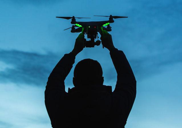 Un drone lancé