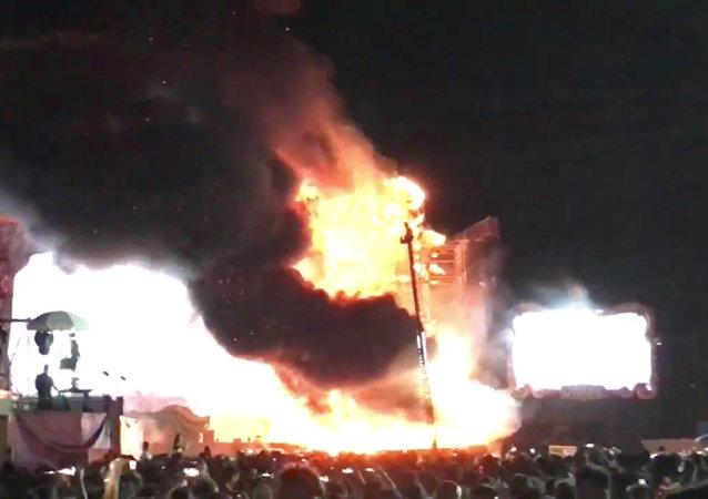 Incendie à Barcelone