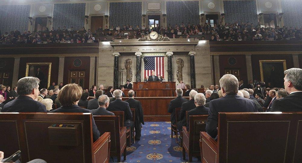 Donald Trump intervient devant le Congrès