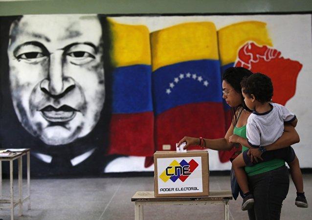 Un bureau de vote au Venezuela