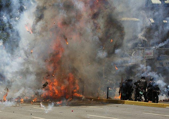Explosion à Caracas