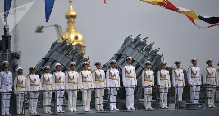 Célébration de la Journée de la Marine à Saint-Pétersbourg