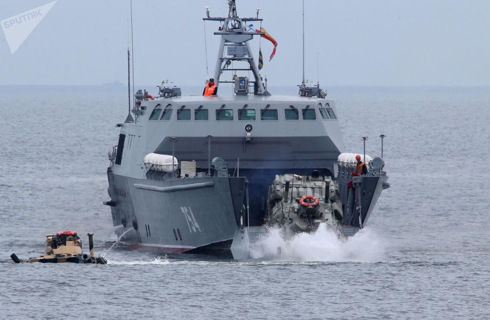 Les manœuvres de débarquement dans la région de Kaliningrad