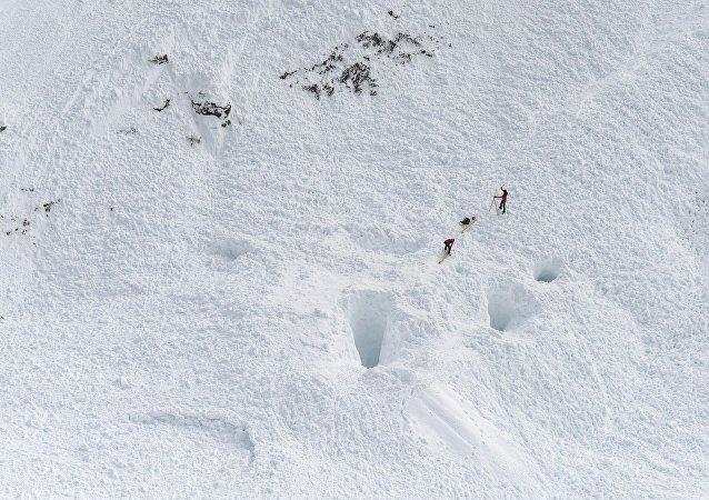 Le pic de Jochgrubkopf dans le Tyrol