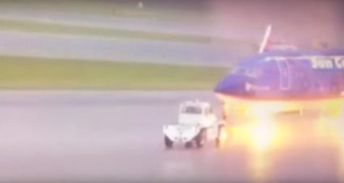La foudre a frappé un employé d'un aéroport