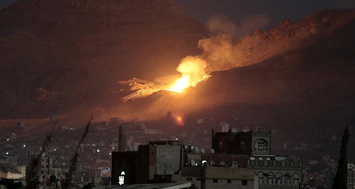 Raid de la coalition arabe au Yémen
