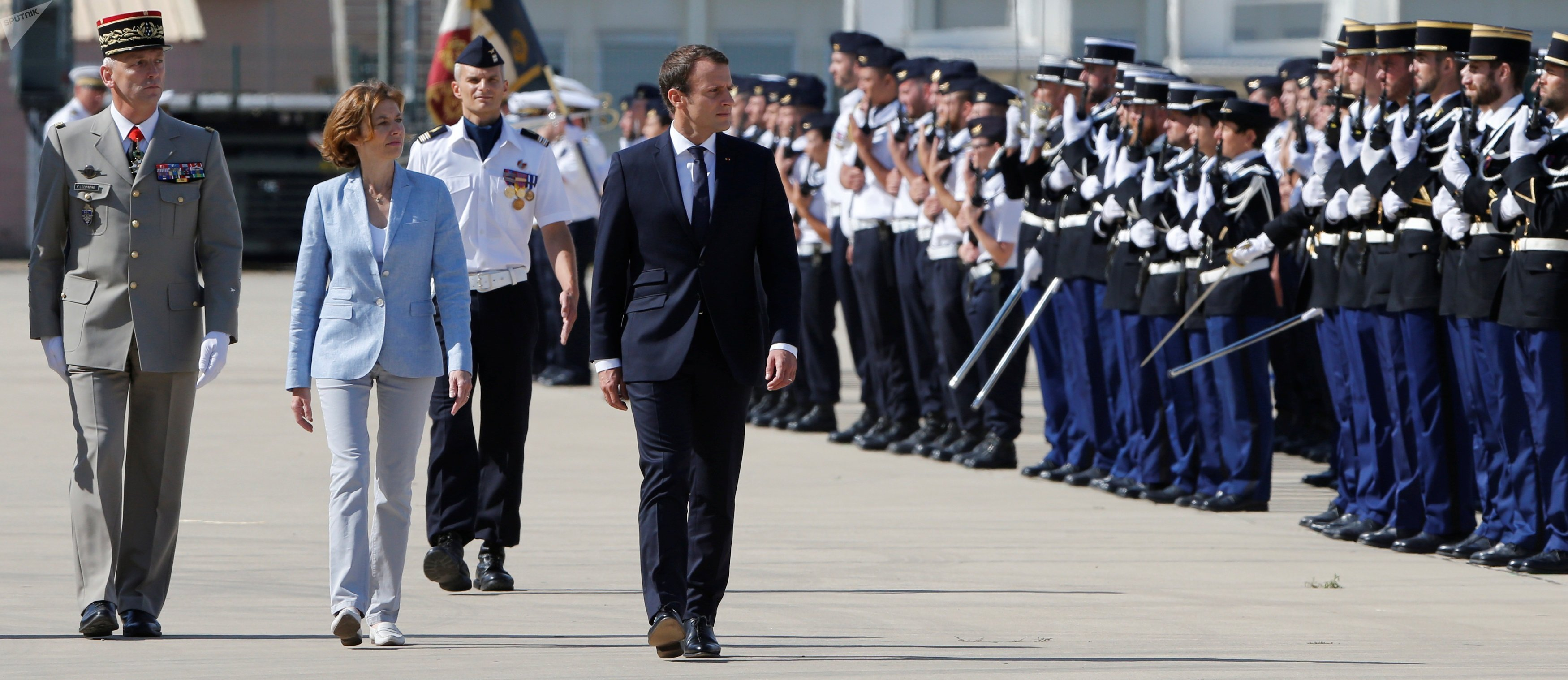 Emmanuel Macron à Istres