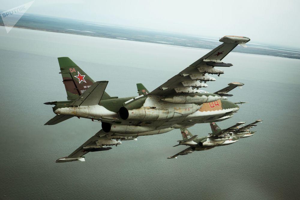 Des avions d'attaque Soukhoi Su-25SM3