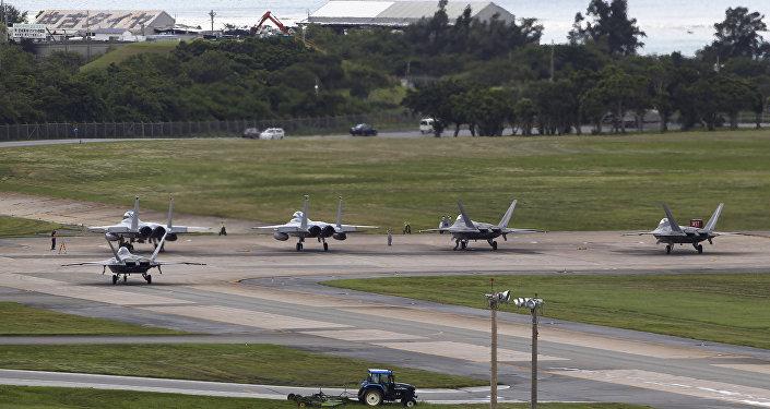 La base aérienne de Kadena sur l'île d'Okinawa