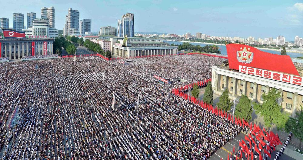 Une manifestation contre les nouvelles sanctions onusiennes à Pyongyang