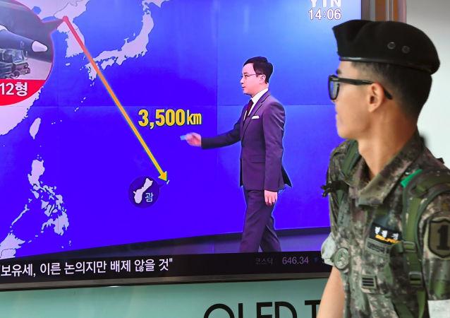 Séoul dévoile la vidéo du test d'un nouveau missile balistique (archives)