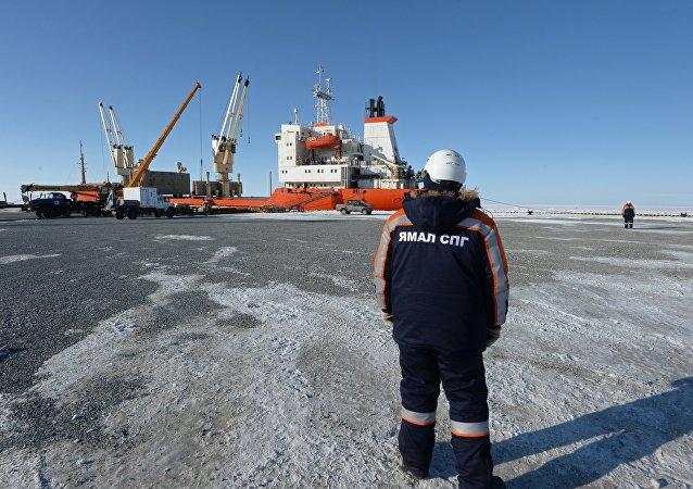 Le port maritime de Sabetta, dans le district autonome des Nenets du Yamal