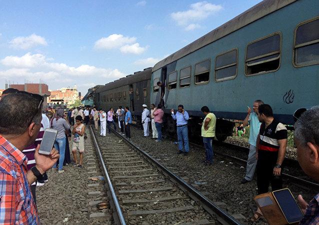 Accident de train en Égypte