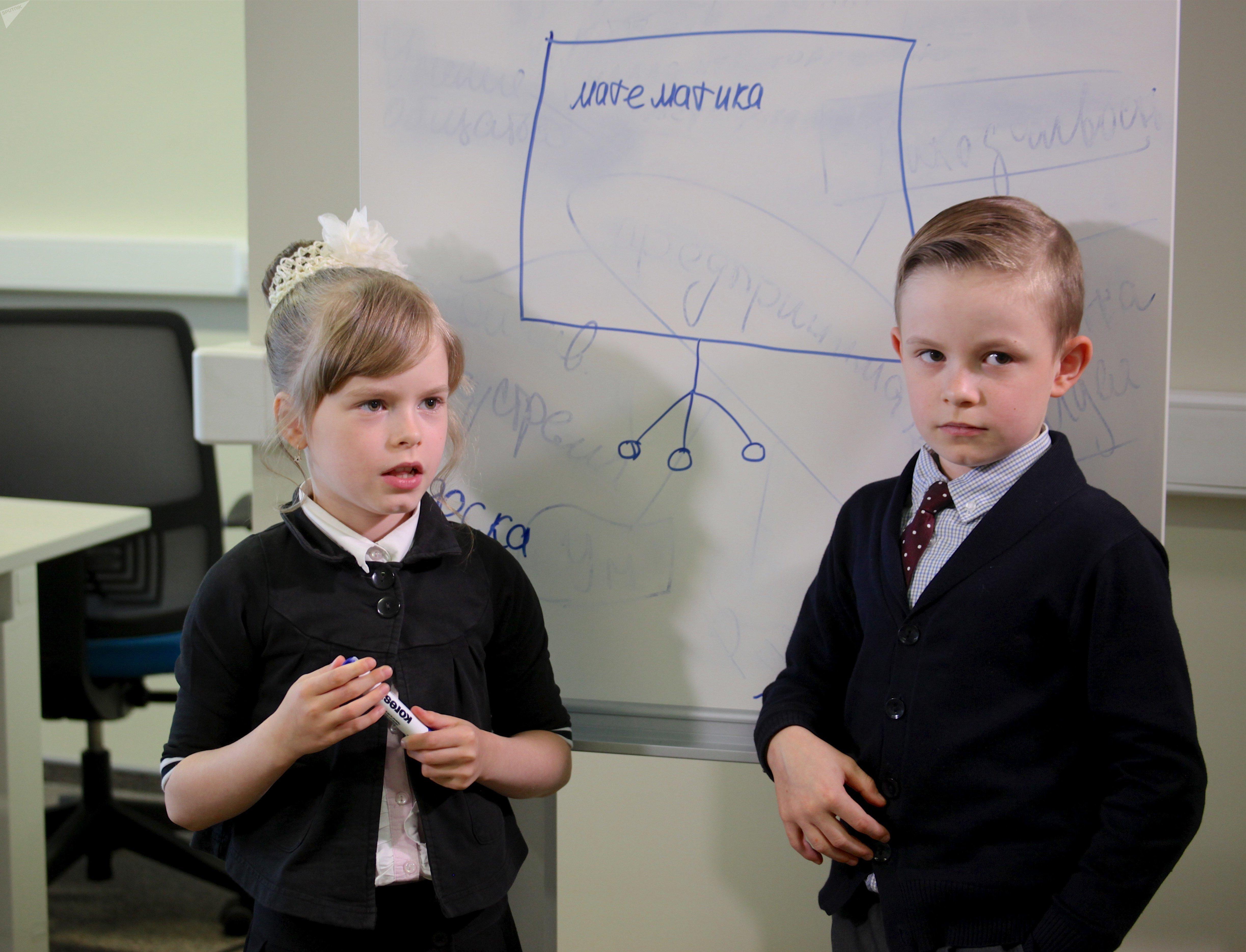 Kira et Danila présentent leur projet