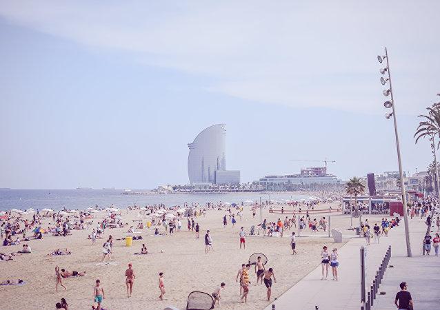 Plage à Barcelone