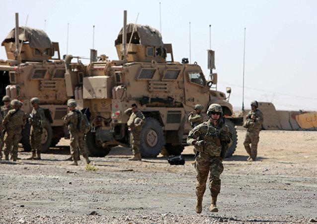 Des soldats américaines qui font partie des forces de la coalition internationale anti-Daech, en Irak, le 21 juin 2017