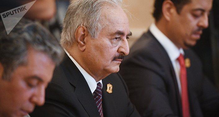 Le maréchal Khalifa Haftar à Moscou