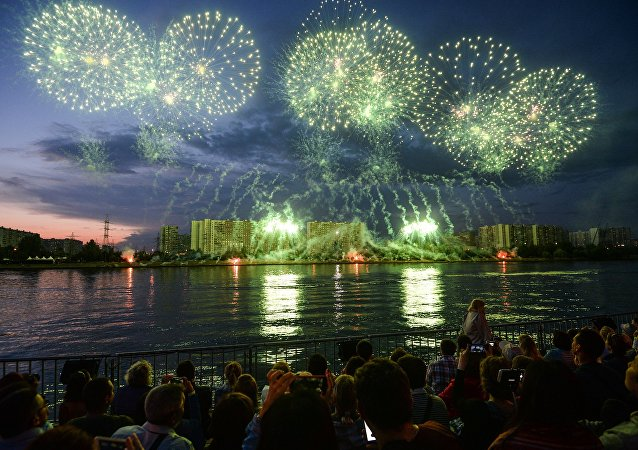 Le 2e Festival international des feux d'artifice Rostec à Moscou