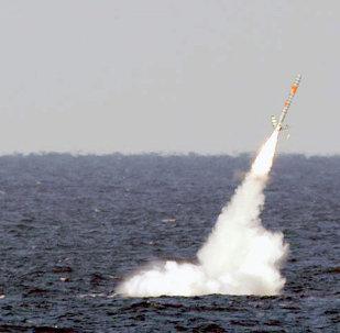Un missile de croisière Tomahawk américain
