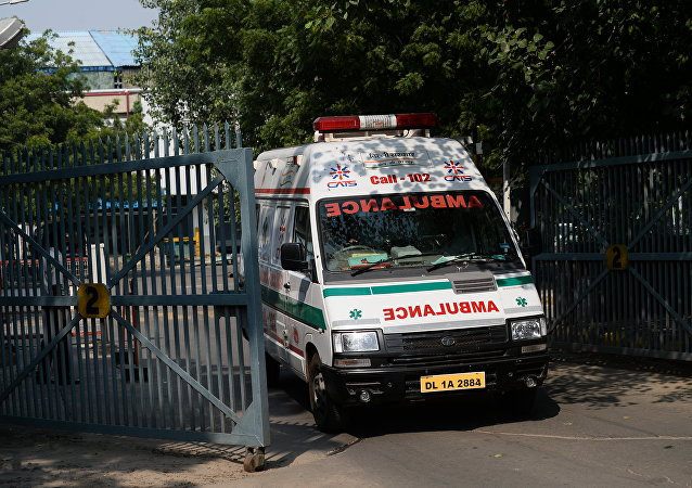 Une ambulance indienne