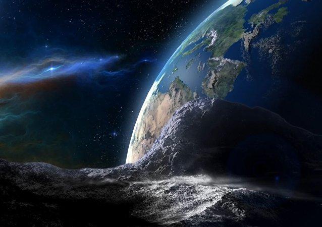 Un astéroïde s'approchant de la Terre (image d'illustration)