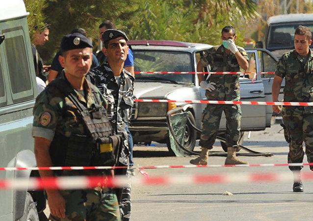 Des militaireset police libanais