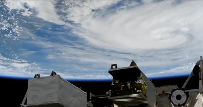 L'ouragan Harvey vu de l'espace
