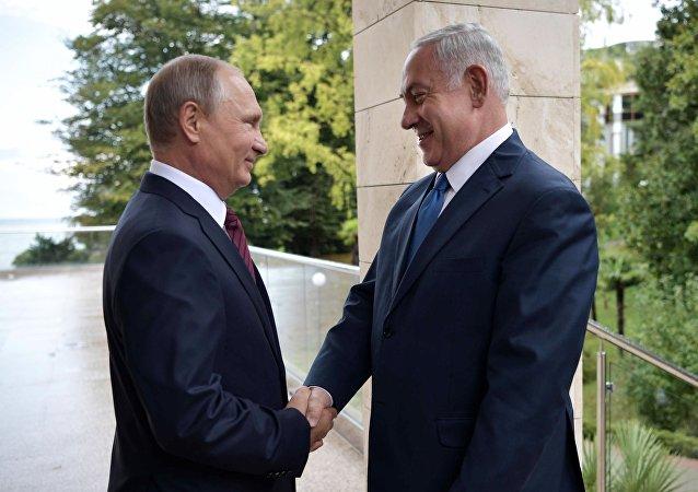 Poutine et Netanyahu le 23 août à Sotchi