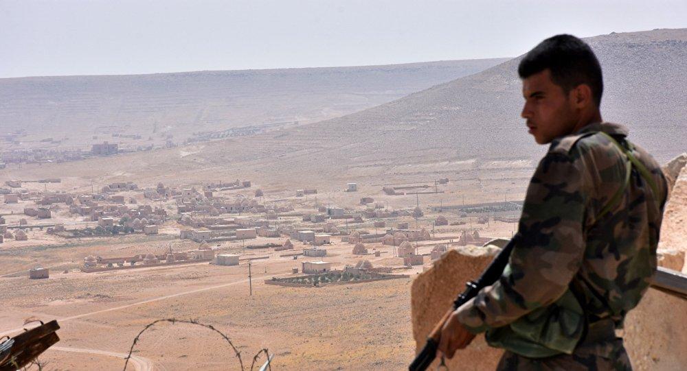 Un soldat syrien dans la province d'Alep