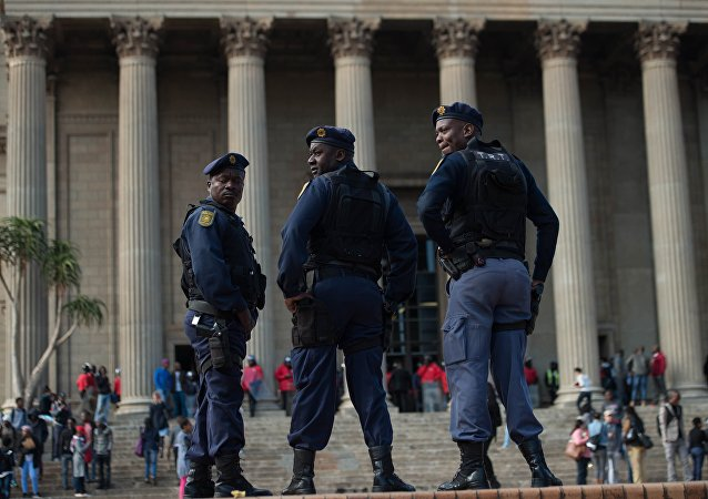 Police à Johannesburg. Archive photo