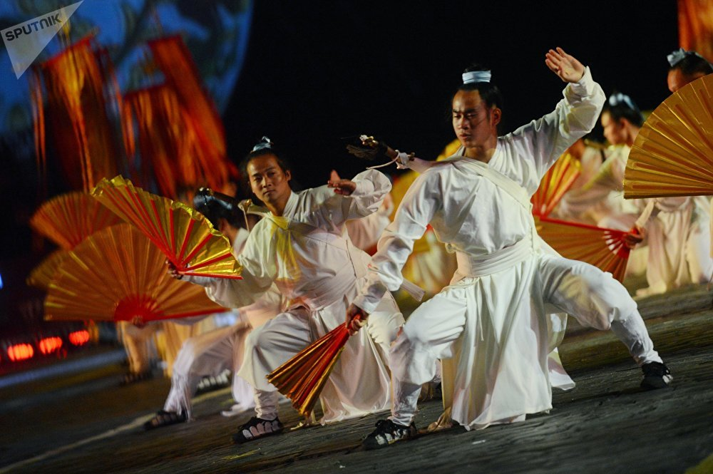 La cérémonie d'ouverture du festival Tour Spasskaïa à Moscou