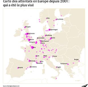Carte des attentats en Europe depuis 2001: qui a été le plus visé