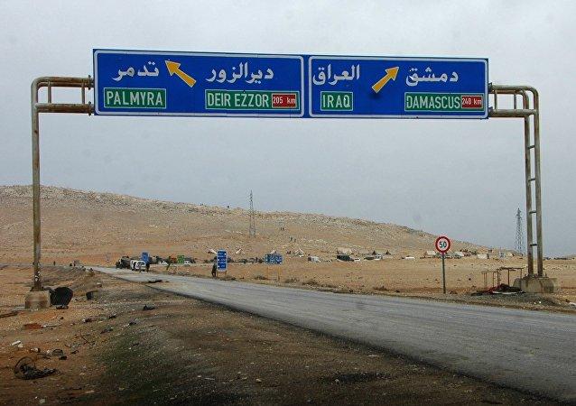 La route Palmyre-Deir ez-Zor
