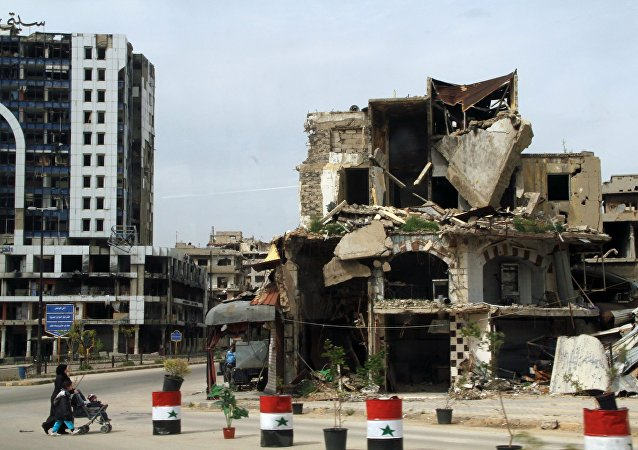Destructions à Homs