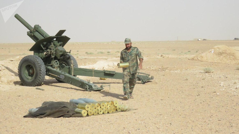 Les militaires syriens à Deir ez-Zor