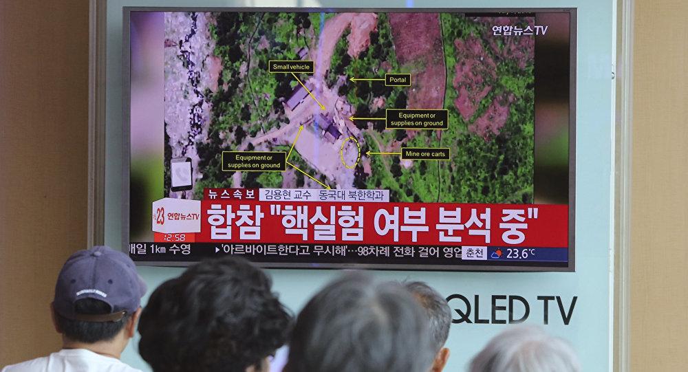 Un reportage sur un possible test nucléaire nord-coréen, le 3 septembre 2017
