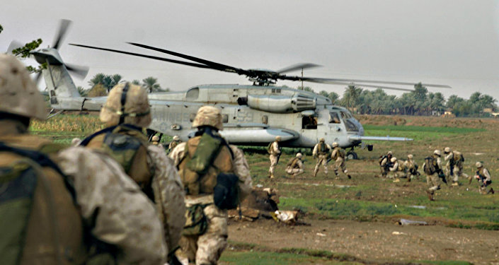 Un hélicoptère US récupère des militaires américain près de la frontière syrienne (Archives)