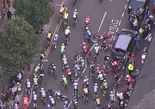Un accident majeur lors du Tour of Britain