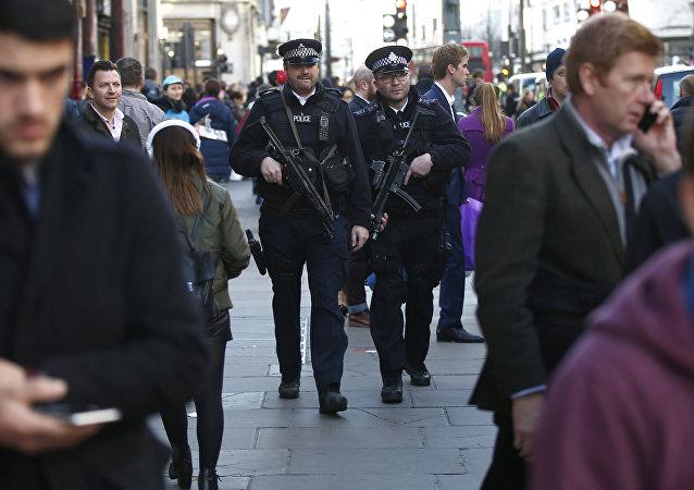 Police britannique à Londres