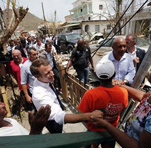 Emmanuel Macron s'est rendu sur l'île de Saint-Martin
