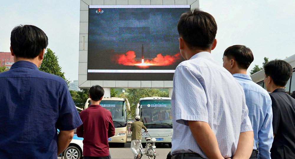 Le lancement d'un Hwasong-12