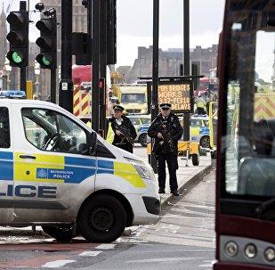 Le périmètre de sécurité établi à Londres après l'attentat du 22 mars