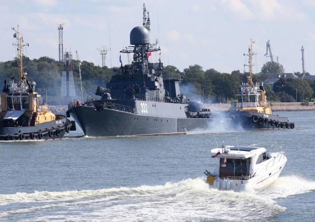 Les navires de la Flotte de la Baltique lors des manœuvres Zapad 2017