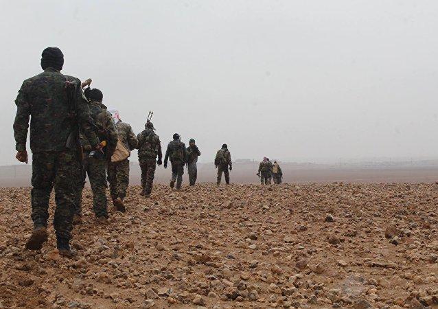 Des combattants des FDS