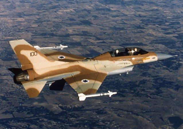 Chasseur israélien F-16. Archive photo