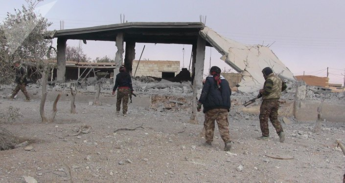 Les combattants des FDS à Raqqa