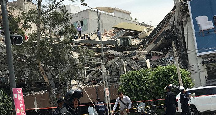 Conséquences du tremblement de terre au Mexique