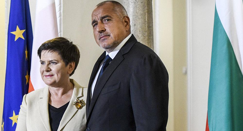 Le Premier ministre bulagare Boïko Borissov lors d'une rencontre avec son homologue polonaise Beata Szydło