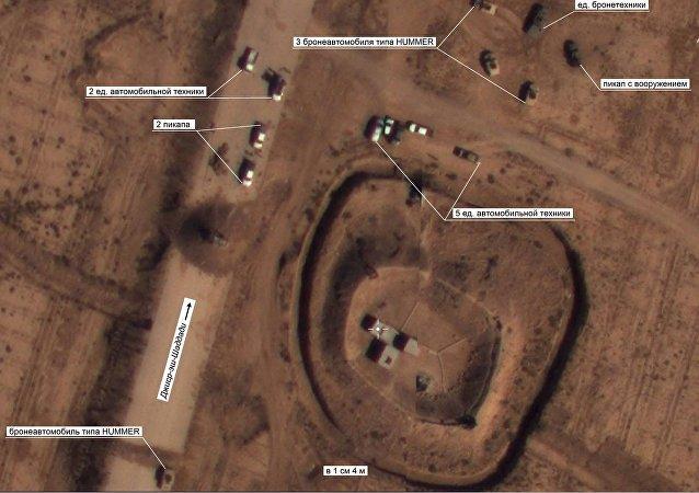 Moscou publie des photos de véhicules blindés US dans les zones de Daech en Syrie